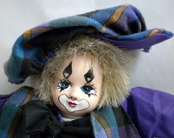 Porcelain Head Clown, Vintage Clown