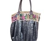 Ethnic tote bag/Shoulder bag/ weekend bag/sequin bag