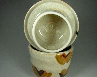French butter dishes - handmade butter crock -pottery butter dish - ceramic butter bell - goblin pottery