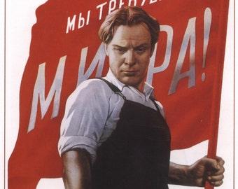 Wall decor, Russian, Soviet poster, USSR, Russia, Propaganda poster, Lenin, Propaganda,  Soviet propaganda, Communism, Soviet, Poster, 037