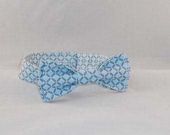 Light Blue Men's Adjustable Bow Tie