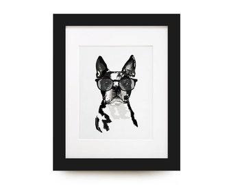 Boston Terrier Portrait Print