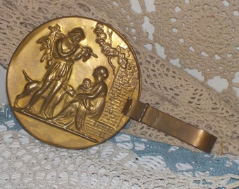 Bed Warming Pan, Grecian Copper or Brass Bed Warming Pan Vintage Home Decor,Home Decor,  :)s