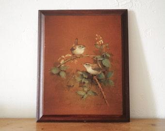Bird Painting - Sparrow - Picture on wood - Bird Decor