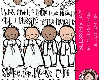 Blessing Day clip art - COMBO PACK - LDS / Mormon