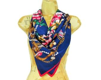 Pierre Cardin Paris Silk Scarf, Large French Scarf