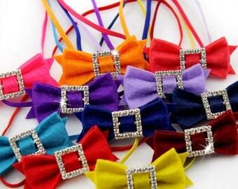 Baby Headband Tiny Bows Headband - Pick your color