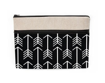 "12"" Laptop sleeve, Macbook Pro 13"" case, 13 Macbook Air bag, Macbook Pro 15"" Retina case - black and white arrows"