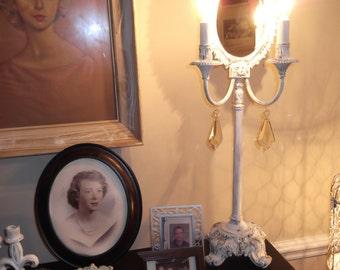 shabby chic sconce light mirror, vintage light, vintage mirror, french country, ornate mirror,  sconce vintage ornate lamp