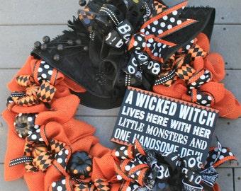 Witches Hat Halloween Wreath