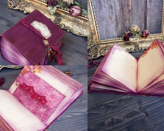 Burgundy Wedding Guest Book, Burgundy Photo album, Shabby Chic Wedding, Custom Wedding Photo Booth album