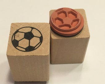 small / tiny soccer ball stamp, 15 mm (A11/1)