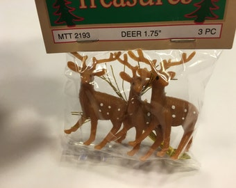3 miniature Deer ornament (HR28)