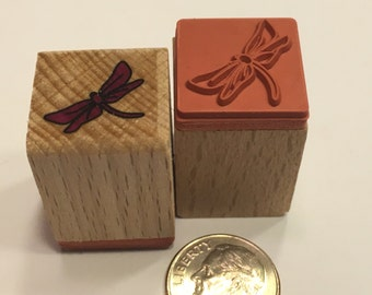 small / tiny Dragenfly rubber stamp, 17 mm (BB1/2)