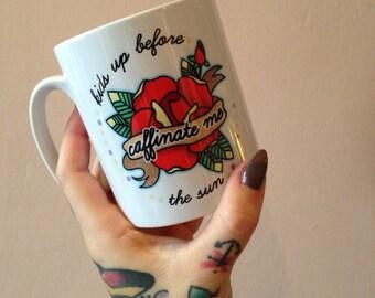 SALE A mug for tired parents 'Caffinate me'