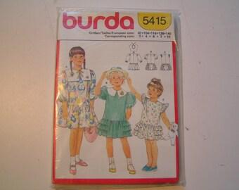Burda Pattern 5415 Girl Dresses