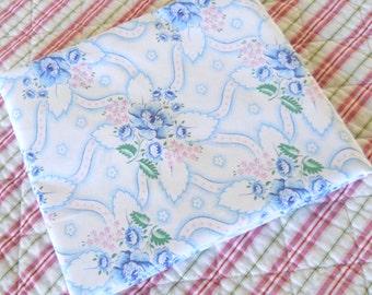 antique french pillow case pillow sham vintage pillow cover vintage bedding blue floral pillow case