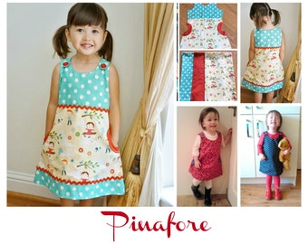 Sewing Pattern Pinafore - (Megan) Digital Sewing pattern, E- Book & Video Instructions