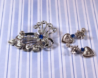 Bugbee & Niles Brooch and Screw Back Earrings - Vintage 1940s