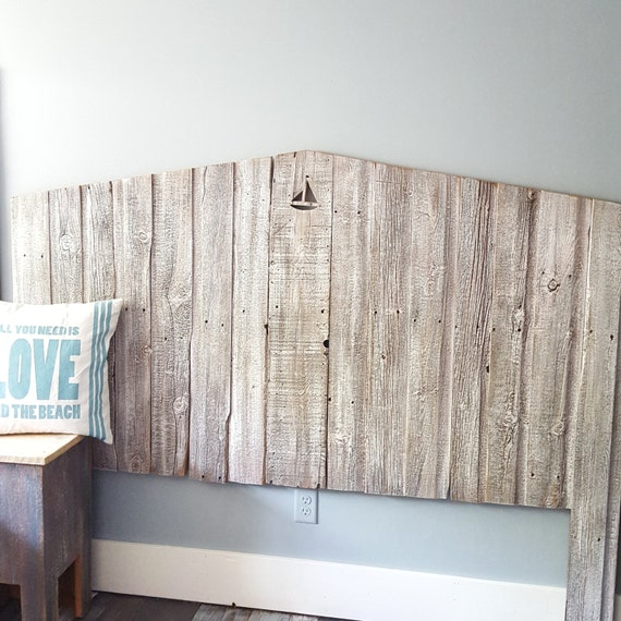 King Tricia Reclaimed wood cottage Headboard