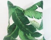 "Green Decorative Pillow Covers -Green Floral Leaf Pillow ..16"",17"",18"",20"" 24"" 26"", Lumbar Pillow or Euro Sham"