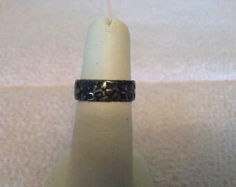Vintage 925 Sterling Silver Floral Design Ring, Size 5.25