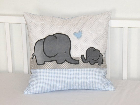 Elephant Pillow Decorative Kids Pillow Boy Nursery Decor