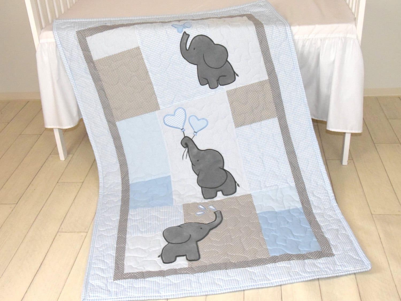 Elephant Crib Bedding For Boy