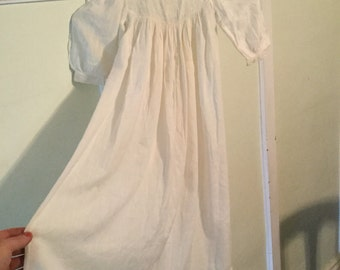 1800's Vintage Antique Baby Christening Gown