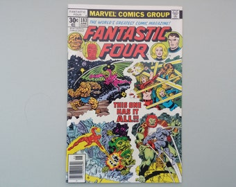Fantastic Four issue 183 / 1977 / Vintage Bronze age Marvel comic / Stan Lee & Sal Buscema