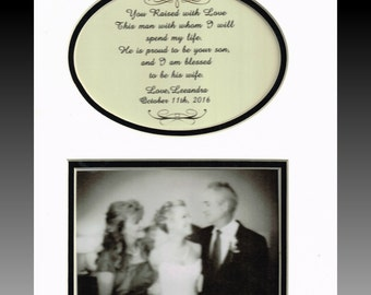 Wedding To My Mother and Father-In-Law  Personalized Gift Bridal Raised with Love from wife for parents