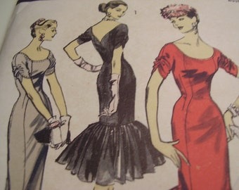 RARE Vintage 1950's Advance 7942 American Designer Suzy Perette Dress Sewing Pattern, Size 14, Bust 32