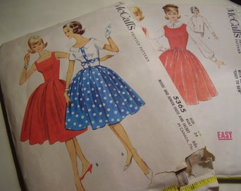 Vintage 1960's Dress Sewing Pattern, Lot of 2