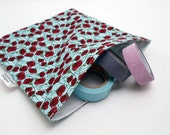 Reusable Sandwich Bag -- Teal Poppies Print, Eco-Friendly