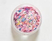 Pink and White Solvent Resistant Glitter Mix  - Bubblegum Wizardry - 5 Gram Nail Polish Glitter Mix for Nail Polish Frankening Scrapbooking