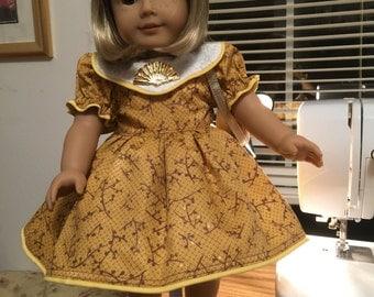 School dress for American Girl type doll