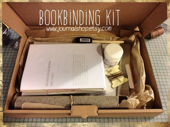Diy Hardcover Book : Bookbinding kit diy journal for a hardcover