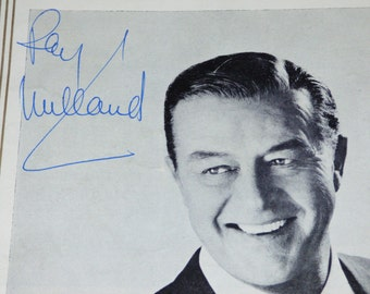 1967 RAY MILLAND SIGNED Princess Theatre Programme