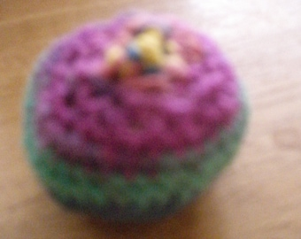 small crocheted balls, size approx 15 cm, height approx 5 cm filled with Lavender