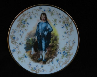 Vintage Plate: Little Boy Blue Decorated Porcelain