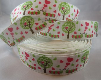 """Red Heart Valentine's Ribbon, V-day 1"""" ribbon by the yard, RN14671"""