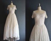 reserved ..... Azzedine / 50s wedding dress / vintage 1950s wedding dress