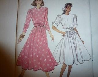 Vintage Butterick Fast & Easy Pattern 5987 Misses' Dress Sizes  8-10-12