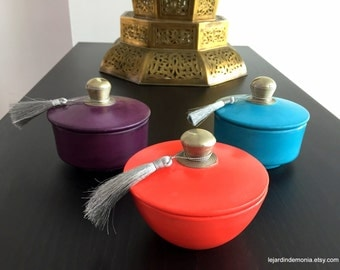 Moroccan Tadelakt  Box Candle - Scented