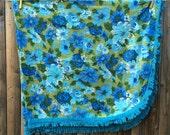 Gorgeous Vintage Floral Tablecloth