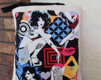 Tatoo Girls Large Grocery Bag Tote Canvas