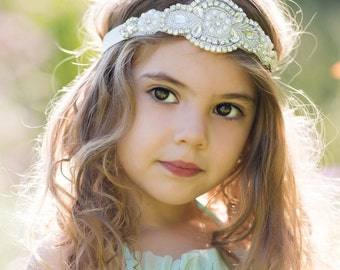 "Sale! "" Her Crown Jewels"" Gorgeous Crystal and Pearl Stone Headband Head Piece Newborn child Photo Prop Wedding Photoshoots Newborn"