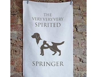 Springer Spaniel Tea Towel - Springer Spaniel Dish Cloth - Springer Spaniel Design - Springerspaniel Gift - Springer Spaniel Present