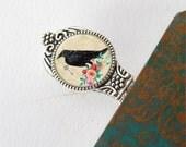 Bookmark, Book Lovers Gift, Metal Raven Bookmark, Gift For Teacher