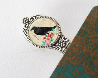Bookmark, Book Lovers Gift, Metal Raven Bookmark, Gift For Teacher